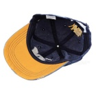 Fashionable Unisex W Baseball Cap Vintage Hat - Blue +  Orange