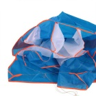 3d Dolphin Style Huge Soft Parafoil Frameless Kite - Blue + Orange