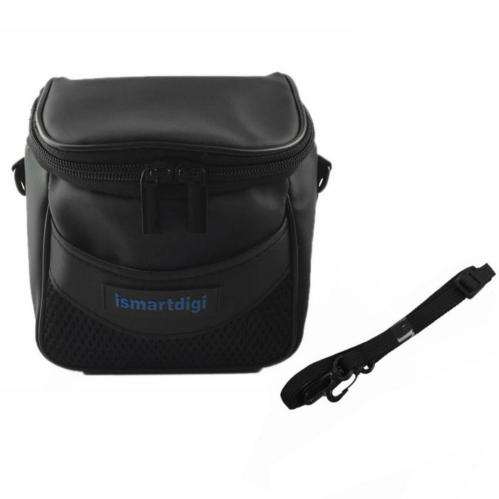 ismartdigi i105 Camera Bag for All Mini DSLR DV - BlackBags and Cases<br>Form  ColorBlackModeli105Shade Of ColorBlackMaterialPUQuantity1 DX.PCM.Model.AttributeModel.UnitCompatible Brandfor All Mini DSLR DV Nikon Canon Sony OlympusCompatible Modelsfor All Mini DSLR DV Nikon Canon Sony OlympusWater ResistantFor daily wear. Suitable for everyday use. Wearable while water is being splashed but not under any pressure.Inner Dimension13x13x6 cmDimension15x15x10 DX.PCM.Model.AttributeModel.UnitOther FeaturesStrap length:min.54/Max.100cmPacking List1 * Camera bag<br>