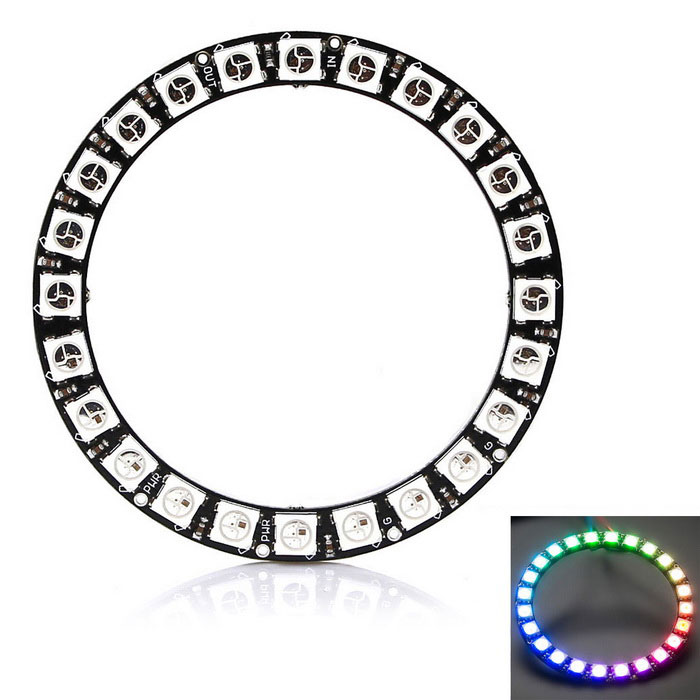 Duinopeak 66mm 24-Bit WS2812B 5050 RGB LED Smart RGB Ring for Arduino