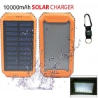 "SUNGZU ""10000mAh"" Dual USB Solar Power Battery Bank - Orange"