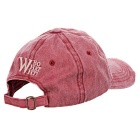 Fashionable Unisex W Baseball Cap Vintage Hat - Red Wine + White