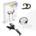 YUEER Binaural Ear-hook Stereo Running Bluetooth Headset - Dark Blue