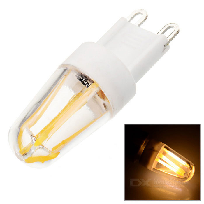 JRLED G9 Dimmable 4W 4-COB LED Warm White Light Bulb (AC 220V)