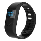 "Hengjiaan M5S 0.49"" OLED Bluetooth Bracelet Heart Rate Monitor - Black"