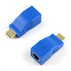Kitbon RJ45 Female to HDMI Male Network Signal Adapters - Blue