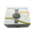 "0.66 ""ET01 Smart-Armband w / Heart Rate Monitor, Anrufe Erinnerung - Grau"