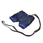 Denim Shorts Style Purse Wallet - Blue