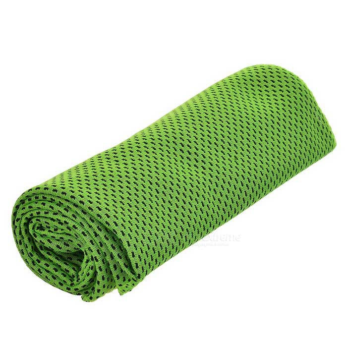 Summer Outdoor Double-sided Sports Cooling Polyester Towel - Green