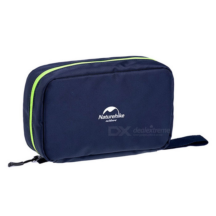 NatureHike Zippered Makeup Wash Storage Bag - Dark Blue