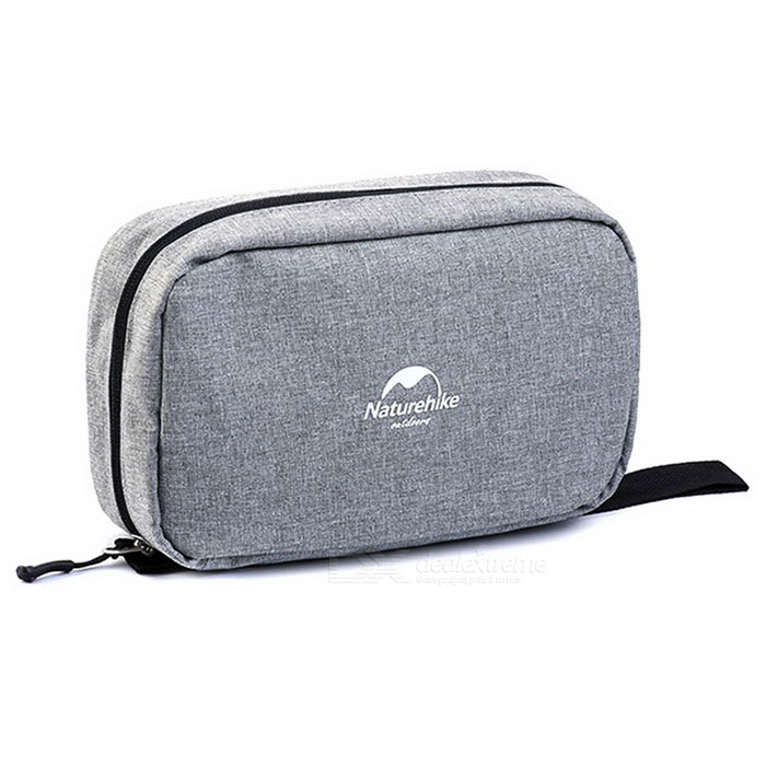 NatureHike Zippered Makeup Wash Storage Bag - Heather Grey