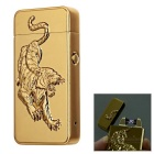 3D Tiger Pattern USB Li-ion Battery Rechargeable Lighter