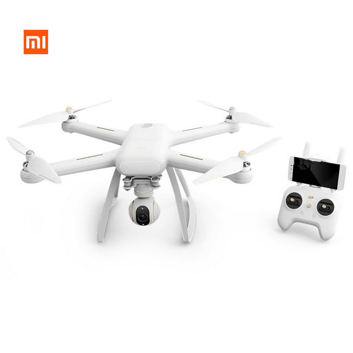 Original XIAOMI Mi Drone 4K Camera 30fps Wi-Fi FPV Quadcopter - WhiteR/C Airplanes&amp;Quadcopters<br>Form  Colorwhite(4KMaterialABSQuantity1 DX.PCM.Model.AttributeModel.UnitShade Of ColorWhiteGyroscopeYesChannels Quanlity6 DX.PCM.Model.AttributeModel.UnitFunctionUp,Down,Left,Right,Forward,Backward,Stop,Hovering,Sideward flightRemote TypeRadio ControlRemote control frequency2.4GHzRemote Control Range1000 DX.PCM.Model.AttributeModel.UnitSuitable Age Grown upsCameraYesCamera PixelOthers,1240Lamp YesBattery TypeLi-ion batteryBattery Capacity5100 DX.PCM.Model.AttributeModel.UnitCharging Time3.5 DX.PCM.Model.AttributeModel.UnitWorking Time27 DX.PCM.Model.AttributeModel.UnitRemote Controller Battery TypeAAARemote Controller Battery Number2Remote Control TypeWirelessModelMode 1 (Right Throttle Hand)Packing List1 * UAV1 * Remote control1 * Camera4 * Propellers4 * Protection frames1 * Battery1 * Wrench1 * Screwdriver10 * Screws1 * Charger (50cm)<br>