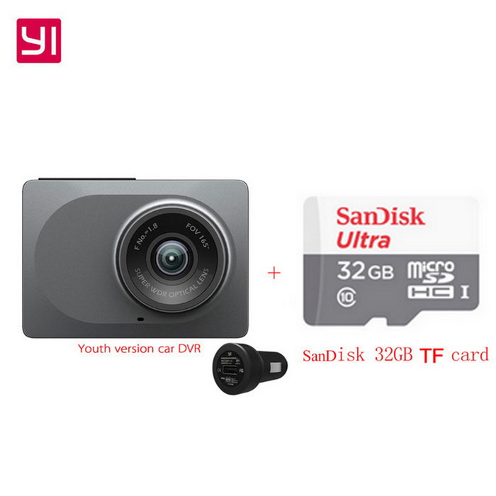 Xiaomi Yi ADAS Youth Version 2.7 1296P Car DVR Recorder + 32GB TFCar DVRs<br>Form ColorGray + Car DVR + 32GB TF cardModelYCS.1015.CNQuantity1 DX.PCM.Model.AttributeModel.UnitMaterialABSChipsetOthers,A12Screen SizeOthers,2.7Other FeaturesWi-Fi,Motion Detection,IR Night Vision,Loop Record,Others,(ADAS, emergency recording, crash sensor, sound recorder, high-precision 3-axis sensor, built-in speaker)Screen Resolution:1920 x 1080 DX.PCM.Model.AttributeModel.UnitCamera Pixel3-4.9MP DX.PCM.Model.AttributeModel.UnitVideo Resolution1920 x 1080,Others,(2304*1296) DPI DX.PCM.Model.AttributeModel.UnitWide Angle150°-169°Camera Lens1Image SensorCMOSImage Sensor SizeOthers,3.0*3.0m,4000mV/lux-sCamera Pixel3.0MPExternal Camera PixelNoWide AngleOthers,165°Screen TypeOthers,LEDScreen Size2.7 inchesWhite Balance ModeAutoVideo FormatMP4Decode FormatH.264Video OutputHDMIVideo Resolution1080FHD(1920 x 1080),1080P(1440 x 1080)Video Frame Rate30,60ImagesJPEG,JPGStill Image Resolution3M 2048x1536Audio SystemDual ChannelsMicrophoneYesAuto-Power OnYesIR Night VisionYesG-sensorYesDelay ShutdownYesTime StampYesBuilt-in Memory / RAMNoMax. CapacityOthers,64GBStorage ExpansionTFAV InterfaceOthers,-Data interfaceMini USBWorking Voltage   5 DX.PCM.Model.AttributeModel.UnitBattery Capacity240 DX.PCM.Model.AttributeModel.UnitWorking Time5 DX.PCM.Model.AttributeModel.UnitMenu LanguageChinese SimplifiedPacking List1 * Car DVR1 * Car charger1 * Stand1 * User Manual (Simplified Chinese)1 * 32GB TF card<br>