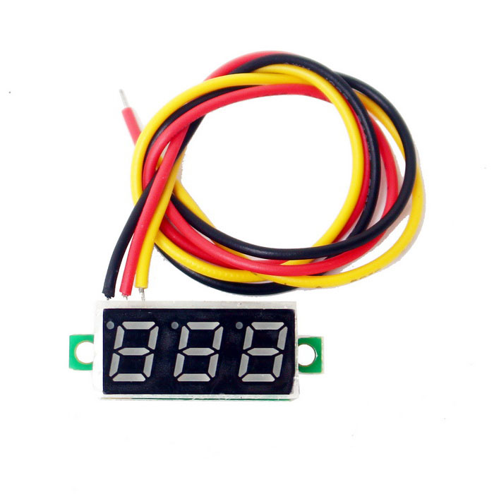 Mini LED DC 2.5-30V Volt Voltage Meter - Black