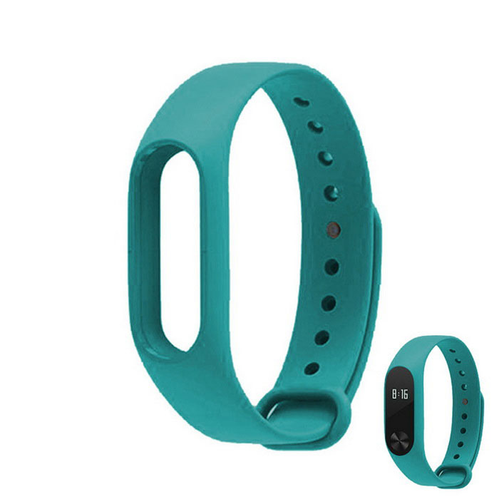 Replacement TPU Wrist Band for Xiaomi MI Band 2 - CyanWearable Device Accessories<br>Form  ColorCyanQuantity1 DX.PCM.Model.AttributeModel.UnitMaterialTPUPacking List1 * Wrist band<br>