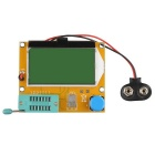 "2.5 ""LCD Tester MOS PNP NPN LCR - Azul + Amarelo"