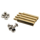 DIY M3.0 * 25mm Hex Brass Cylinder + Nut Kits for Raspberry Pi
