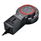12A 8-Port USB Charger Wireless Charger - Black + Red (EU Plug)