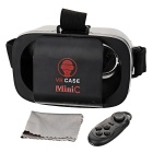 KICCY Mini Polarized Virtual Reality Glasses w/ Remote Control - Black