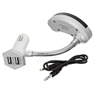 Dual USB Car Charger / Bluetooth FM Transmitter / MP3 Player - Silver