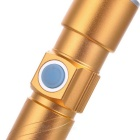 Cwxuan 100lm USB Rechargeable Waterproof 3-Mode Flashlight - Golden
