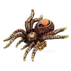 Creative Spider Shape Finger Ring - Gold + Coffee