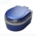 ZIQIAO Portable LED Lights Car Ashtray - Blue + Silver