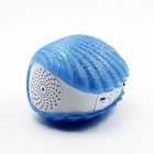 B-08 Shell Wireless Bluetooth Mini Speaker LED Light - Blue + White