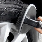 ZIQIAO T-type Vehicle Tyre Hub Brush Cleaning Tool - Dark Grey + Black