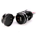 Motorcycle E-bike 9-30V Digital Voltmeter USB Port Adapter