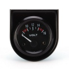 "Jauge voiture universel noir Pointer tension compteur 8-16V LED White Light 2 ""52mm Automobile"