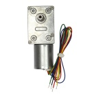 DC 12.0V 95RPM Large Torque Mute Gear Motor - Grey + Silver