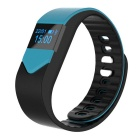 M3S Smart Fitness Pedometer Heart Rate Tracker Bracelet - Black + Blue