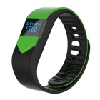 "M3S 0.49"" Smart Fitness Heart Rate Tracker Bracelet - Black + Green"