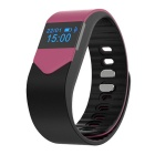 "M3S 0.49"" Smart Fitness Heart Rate Tracker Bracelet - Black + Pink"