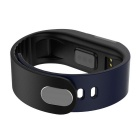 "M3S 0.49"" Smart Fitness Heart Rate Tracker Bracelet - Black +Deep Blue"