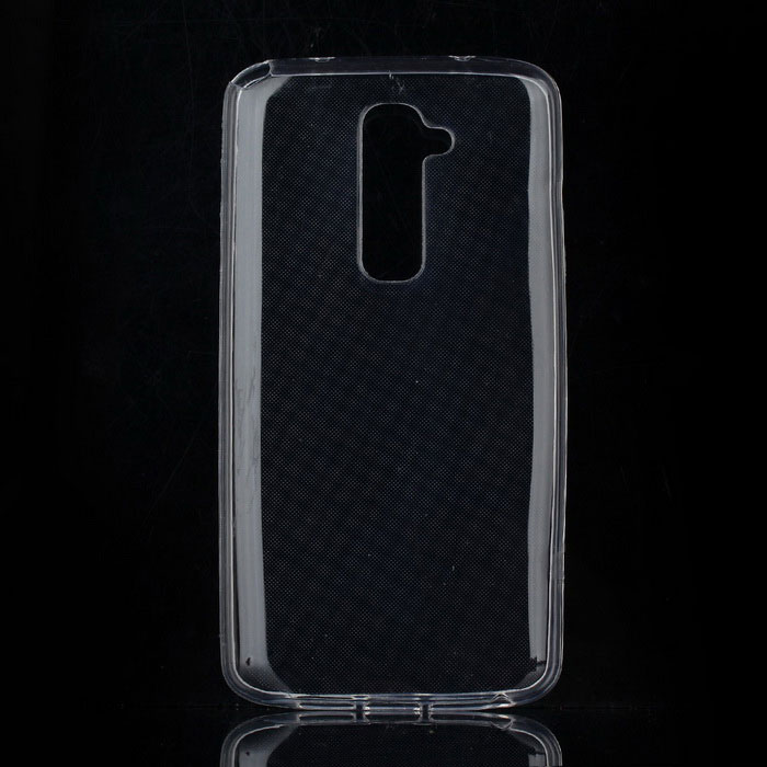 Protective TPU Back Case for LG G2 - Transparent