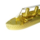 3D Driedimensionale DIY Titanic Assembly Model Toy - Goud