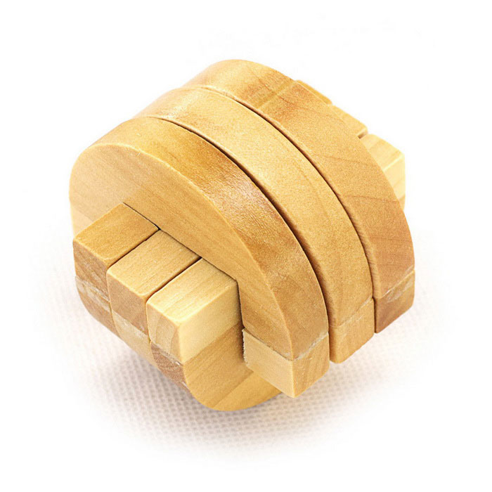 MaiKou MK501 Intellectual DIY Toy Puzzle Lock - Yellow