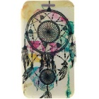 SZKINSTON Dreamcatcher Pattern PU Case for HUAWEI P8 - Black + Yellow