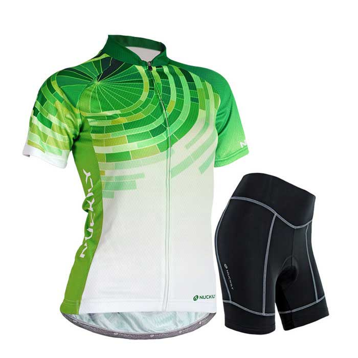 NUCKILY Outdoor Cycling Polyester Short-Sleeve Jersey + Short Pants
