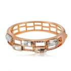 Fashion Exquisite Hollow Round Shaped Decorative Bracelet - Rose Gold
