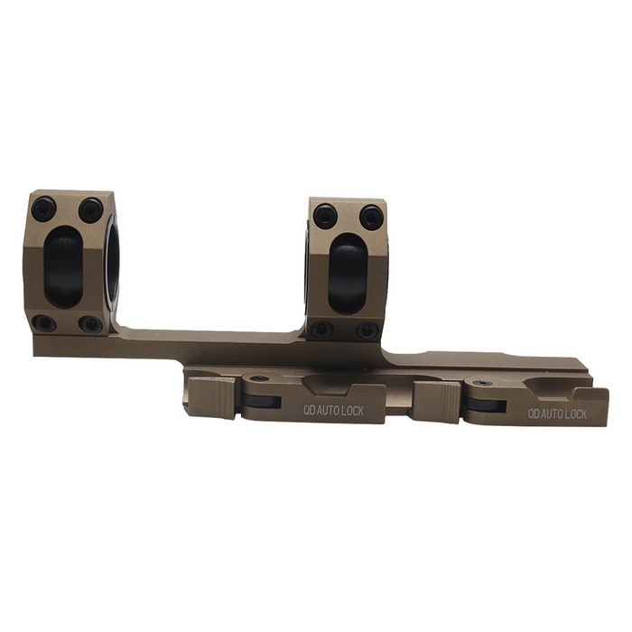 Tactical dupla Anel Quick Release Longo Alcance Mount - Mud Cor