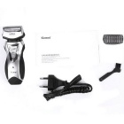 KEMEI KM-8007 Men's Rechargeable Electric Shaver - Black + Silver