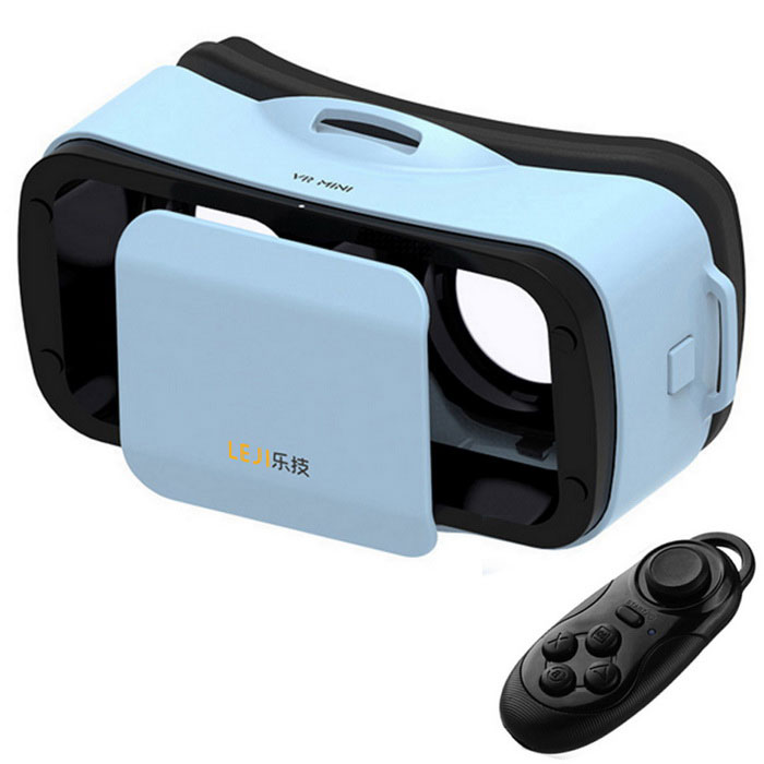 "VR BOX 3.0 Google Glasse + Remote Control for Movies Games 4.5~5.5"" Smart Phones"