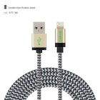 Mfi certificado CARVE nylon trenzado 8Pin relámpago cable USB para IPHONE 6 / 5S / 5C / 5