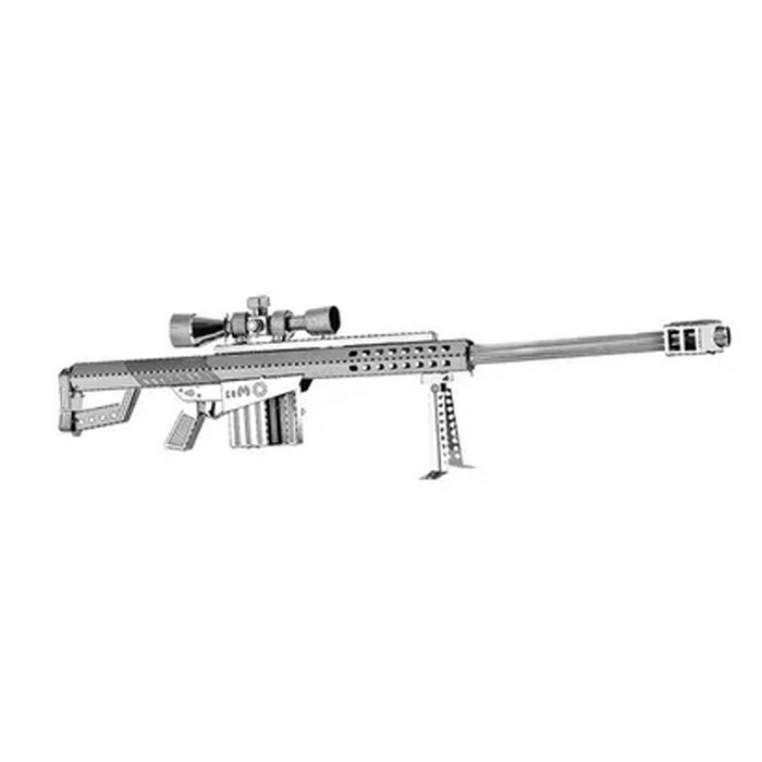 3D DIY Creative Puzzle Barrett Sniper Rifle Toy - SilverBlocks &amp; Jigsaw Toys<br>Form  ColorSilverMaterialMetalQuantity1 DX.PCM.Model.AttributeModel.UnitNumber27Size15*3.5*2Suitable Age 8-11 years,12-15 years,Grown upsPacking List1* Specification1* Puzzle<br>