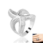 Fashion Simple Starfish Style Alloy Ring for Women - Silver