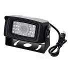 HK880 HD Rearview impermeabile w / 24-IR LED Night Vision - Nero